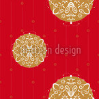 Ornaments For Christmas Seamless Vector Pattern Design