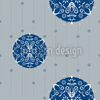 Christmas Ornaments Silver Design Pattern