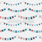 Buntings And Garlands Repeat Pattern