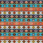 Indiano nativo americano Design de padrão vetorial sem costura