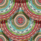 アステカ・サークル シームレスなベクトルパターン設計