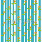 Stripes and flowers Vector Ornament