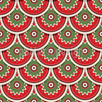 Festive Circles Vector Pattern