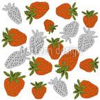 Rote Erdbeeren Nahtloses Muster