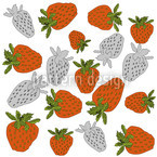 Strawberries Red Seamless Pattern
