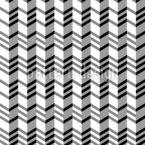 Ziguezague louco Design de padrão vetorial sem costura