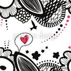 Liebesgekritzel Nahtloses Vektormuster