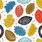 Kunstvoller Herbst Nahtloses Vektormuster