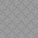 círculos em formas Design de padrão vetorial sem costura