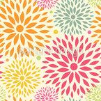 Blumenfeuerwerk Nahtloses Vektor Muster