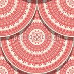 Telha Redonda Design de padrão vetorial sem costura
