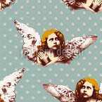 My Guardian Angel Seamless Vector Pattern Design