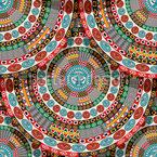 Aztekische Fliese Rapportiertes Design