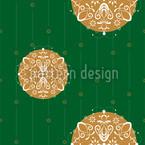 Stilisierte Christbaumkugel Grün Nahtloses Vektormuster