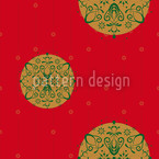 Christmas Ornaments Red Seamless Vector Pattern Design