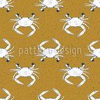 Krabben Nahtloses Muster