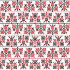 Flor Bordado Design de padrão vetorial sem costura