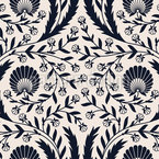 Traversed By Flowers Pattern Design