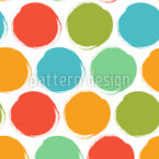 Grunge Circle Seamless Vector Pattern
