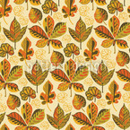 Golden Leaves Morning Glory Motif Vectoriel Sans Couture