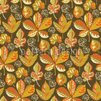 Golden Leaves Evening Seamless Vector Pattern Design