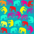 Elephants Vector Pattern