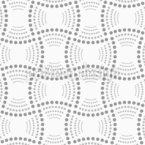 Retângulos e arcos pontilhados Design de padrão vetorial sem costura