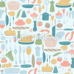 Bountiful Table Vector Design
