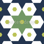 Sechsecke In Sternen Muster Design