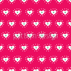 Shining Hearts Seamless Vector Pattern Design