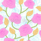 Rose Seamless Vector Pattern Design