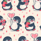 Birthday Penguins Vector Pattern
