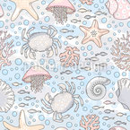 Magic Sea Seamless Vector Pattern Design