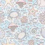 Magisches Meer Nahtloses Vektormuster
