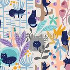 Katzenliebe Muster Design