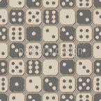 Jogo de Dados Antigo Design de padrão vetorial sem costura