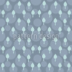 Abstract Tree Seamless Vector Pattern Design