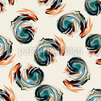 Abstract Volute Seamless Vector Pattern Design