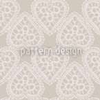 Grandmas Hearts Seamless Vector Pattern Design