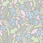 Floral Twigs Repeating Pattern
