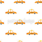 Taxi Seamless Vector Pattern Design