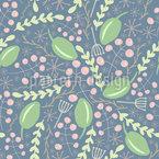 Beeren Und Blätter Musterdesign