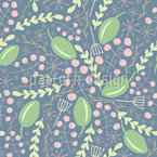 Berries And Leaves Pattern Design