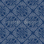 Tiled Embroidery Seamless Vector Pattern Design