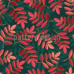 Elliptische Blätter Nahtloses Vektormuster