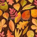 Autumn Love Seamless Vector Pattern Design