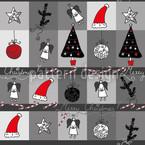 Weihnachtstraum Anthrazit Nahtloses Vektormuster