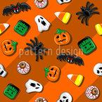 Festa di caramelle spettrale disegni vettoriali senza cuciture