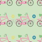 Mädchenhaftes Fahrrad Designmuster