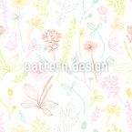 踊る植物 シームレスなベクトルパターン設計